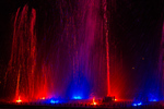 Waltzing Waters holiday fountain display