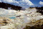 """Overview of """"Bumpass Hell"""" thermal area, Lassen Volcanic National Park, CA"""