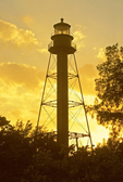 Sanibel Island Light Sunset, Point Ybel Light, Historic 19th Century Lighthouse, Florida