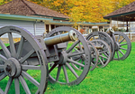 Cannons & Visitor Center, Saratoga National Historical Park, Saratoga, New York