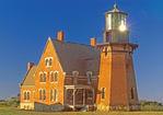Southeast Light, Victorian Gothic Architectural Style Lighthouse, Block Island, Rhode Island