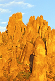 Evening Light on Mountain Spires, Pinnacles National Park, Soledad, California