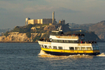 Tourboat and Alcatraz Island, Golden Gate National Recreation Area, San Francisco, California