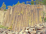 Columnar Basalt, Extrusive Igneous Volcanic Rock, Devils Postpile National Monument, Mammoth Lakes, California