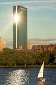 Sailboat on the Charles River, Boston, Massachusetts