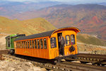 Mount Washington Cog Railway in Autumn, Summit of Mt. Washington, White Mountains, New Hampshire