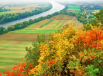 Connecticut River Valley, View from Mt. Sugarloaf, Autumn Foliage, Deerfield, Massachusetts