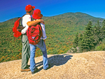 Couple on Summit of Mount Pemigewasset in Autumn, Franconia Notch State Park, White Mountains, New Hampshire