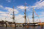 USS Constitution, Old Ironsides, Wooden Hulled, Three-Masted Heavy Frigate, United States Navy, Freedom Trail, Boston National Historial Park, Charlestown Navy Yard, Boston, Massachusetts