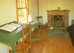 Interior of Thoureau House Replica, Walden Pond, Concord, Massachusetts
