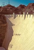 Hoover Dam, Boulder Dam, Concrete Arch-Gravity Dam in the Black Canyon of the Colorado River, Arizona and Nevada