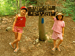 Children on Appalachian Trail in White Mountains, New Hampshire