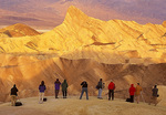 Photographers at Zabriskie Point, Manly Beacon, Death Valley National Park, California