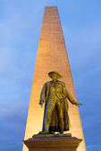 Bunker Hill Monument at Night, Freedom Trail, Boston National Historical Park, Charlestown, Massachusetts