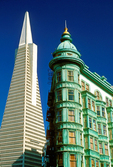Transamerica Pyramid and Columbus Tower, San Francisco, California