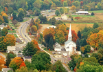 New England Town, View from Mt, Sugarloaf, Connecticut River Valley, Sunderland, MA