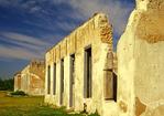 Officers Quarters Ruins, Fort Laramie National Historic Site, Oregon Trail, Torrington, Wyoming