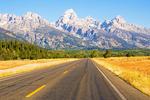 Road into the Teton Range, Grand Teton National Park, Jackson Hole, Wyoming