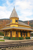 Crawford Depot, Maine Central Passenger Railway Station, 19th Century, Queen Anne Style Architecture, Crawford Notch State Park, White Mountains, Carroll, New Hampshire