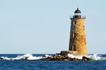 Whaleback Light, 19th Century Lighthouse, Portsmouth Harbor, New Hampshire