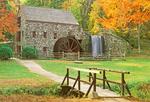 Historic Grist Mill at Wayside Inn, Sudbury, Massachusetts