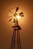 Windmill at Sunset, Wall Street Mill Trail, Joshua Tree National Park, Twentynine Palms, California