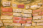 Red Bricks, Salmon Ruins Masonry, 11th Century Chacoan Anasazi Ancestral Puebloan Ruin, Bloomfield, New Mexico