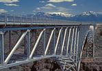 Rio Grande Gorge Bridge, Sangre de Cristo Mountains, Cantilever Truss Bridge, Taos, New Mexico