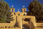 San Francisco de Asis Church, 18th Century Adobe Architecture, Franciscan Old World Architectural Style, Ranchos de Taos, New Mexico