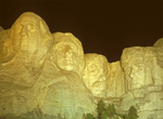 Mount Rushmore National Memorial at Night, George Washington, Theodore Roosevelt, Abraham Lincoln, Thomas Jefferson, Black Hills, Keystone, South Dakota