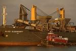 Alice Oldendorff, Self-Discharging Bulk Carrier and Tugboat