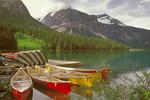 Emerald Lake Canoes, Canadian Rockies, Yoho National Park, British Columbia, Canada