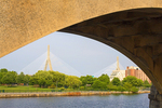 Leonard Zakim Bunker Hill Bridge Framed, Charles River, Boston, Massachusetts