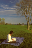 Woman Reading at Coolidge Reservation, Manchester-by-the-Sea, Massachusetts