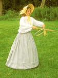 Young 19th Century Woman Playing Game, Civil War Reenactor