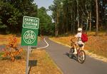 Biking on Cape Cod Rail Trail, Cape Cod, Massachusetts