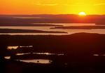 Sunset from Cadillac Mountain, Acadia National Park, Mount Desert Island, Maine