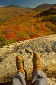 Hiking Boots on Mt. Sugarloaf, Crawford Notch, White Mountains, New Hampshire