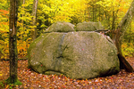 Giant Boulder on Greeley Ponds Trail, Autumn Foliage, Kancamagus Highway, White Mountains, New Hampshire