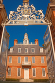 Governor's Palace Framed in Gate, 18th Century Colonial Architecture, Colonial Williamsburg, Virginia