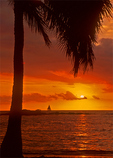 Hawaiian Sunset, Kaloko-Honokohau National Historical Park, Big Island, Hawaii