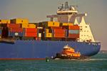 MSC Boston Container Ship in Boston Harbor, Boston, Massachusetts