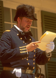 Civil War Officer, Fort Laramie National Historic Site, Oregon Trail, Torrington, Wyoming