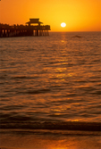 Florida Sunset at Naples Beach Pier, Naples, Florida