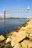 Cape Cod Canal Railroad Bridge, Buzzards Bay Railroad Bridge, Cape Cod Canal, Vertical Lift Bridge, Bourne, Massachusetts