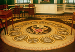 Historical Rug in Senate Chamber of Congress Hall, Independence National Historical Park, American Revolution, Philadelphia, Pennsylvania