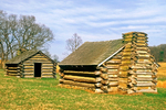 Soldier's huts, American Revolutionary War, Valley Forge National Historical Park, Pennsylvania