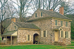Washington Headquarters, Isaac Potts Stone House, 18th century Colonial Architecture, American Revolutionary War, Valley Forge National Historical Park, Pennsylvania