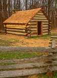 Soldier's Hut, American Revolutionary War, Valley Forge National Historical Park, Pennsylvania