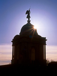 Pennsylvania State Memorial Silhouette, American Civil War monument, Granite Beaux-arts Pavilion Crowned by a Dome, Gettysburg National Military Park, Gettysburg, Pennsylvania